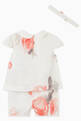 thumbnail of Macro Rose Cotton Top, Shorts & Headband Set #2