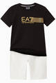 thumbnail of EA7 Striped Jersey T-Shirt    #1
