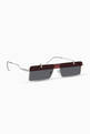 thumbnail of Geometric Square Sunglasses in Metal    #1