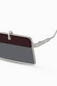 thumbnail of Geometric Square Sunglasses in Metal    #2