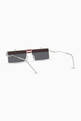 thumbnail of Geometric Square Sunglasses in Metal    #4