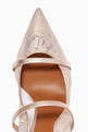 thumbnail of Maureen 85 Pumps in Metallic Leather  & Lace    #4