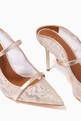 thumbnail of Maureen 85 Pumps in Metallic Leather  & Lace    #5