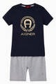 thumbnail of Logo Cotton Jersey Pyjama Set   #0