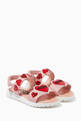 thumbnail of Logo Hearts Velcro Sandals in Leather   #0