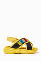 thumbnail of Logo Velcro Cross Sandals in Leather      #2