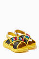 thumbnail of Logo Velcro Cross Sandals in Leather      #0