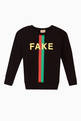 thumbnail of 'Fake/Not' Print Sweatshirt   #0