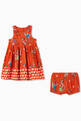 thumbnail of Flamingo Party Viscose Crêpe Dress   #1