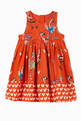 thumbnail of Flamingo Party Viscose Crêpe Dress   #0