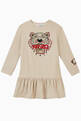 thumbnail of Embroidered Tiger Sweatshirt Dress in Cotton Blend   #0