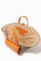 thumbnail of Kendra Coffa Bag in Woven Straw and Leather #3
