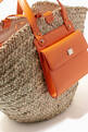 thumbnail of Kendra Coffa Bag in Woven Straw and Leather #4