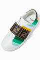 thumbnail of FF Logo Stripe Velcro Sneakers in Leather   #3