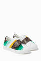 thumbnail of FF Logo Stripe Velcro Sneakers in Leather  #0
