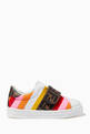 thumbnail of FF Logo Stripe Velcro Sneakers in Leather  #2