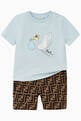 thumbnail of Stork Print Cotton T-shirt   #1