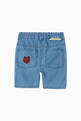 thumbnail of Embroidered Cats Cotton Denim Chambray Shorts  #2