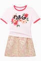thumbnail of Cotton Jersey T-shirt with DG Camellia Print    #1
