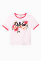 thumbnail of Cotton Jersey T-shirt with DG Camellia Print    #0