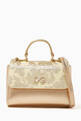 thumbnail of Brocade Laminated Bag in Leather    #0