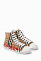 thumbnail of Logo High-top Sneakers in Vintage Check Cotton   #0