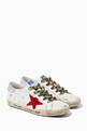 thumbnail of Super-Star Sneakers with Suede Star & Metallic Heel Tab in Leather       #0
