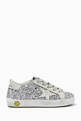thumbnail of Super-Star Sneakers with Suede Star in Glitter      #2