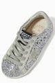 thumbnail of Super-Star Sneakers with Suede Star in Glitter      #3