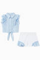 thumbnail of Striped Ruffle Top & Shorts Set  #1
