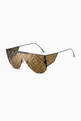thumbnail of Fabulous 2.0 Aviator Sunglasses in Metal   #1