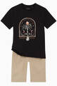 thumbnail of Palm Tree Embroidered Frame T-shirt in Cotton   #1