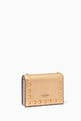 thumbnail of Valentino Garavani Rockstud Wallet in Metallic Leather    #2