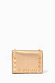 thumbnail of Valentino Garavani Rockstud Wallet in Metallic Leather    #0