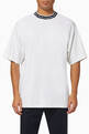 thumbnail of Logo Ribbed Crewneck Viscose-Blend T-Shirt    #0