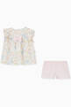 thumbnail of Floral-Print Top & Shorts Set in Cotton   #2