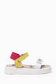 thumbnail of Tricolour Logo Print Sandals   #2