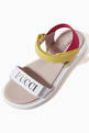 thumbnail of Tricolour Logo Print Sandals   #3
