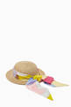 thumbnail of Sun Hat with Printed Scarf in Paper & Silk Blend    #1
