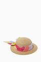 thumbnail of Sun Hat with Printed Scarf in Paper & Silk Blend    #0