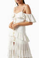 thumbnail of Draped Off-shoulder Maxi Dress   #4