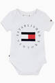thumbnail of Flag Logo Bodysuit in Stretch Organic Cotton    #0
