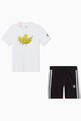 thumbnail of Graphic Trefoil T-shirt and Shorts Set, Set of 2     #1