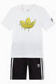 thumbnail of Graphic Trefoil T-shirt and Shorts Set, Set of 2     #0