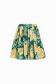 thumbnail of Midi Circle Skirt in Hydrangea-print Cotton Poplin    #0