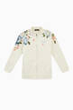 thumbnail of Zip-up Sweatshirt with Magnolia Print in Jersey     #0