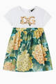 thumbnail of Dress with DG Embroidery in Cotton Jersey and Floral Poplin   #0