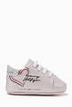 thumbnail of Heart Logo Sneakers in Metallic Leather    #2