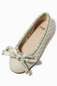 thumbnail of FF Tonal Bow Ballerinas in Leather   #3