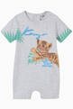 thumbnail of Tiger Cub Print Romper in Cotton    #0